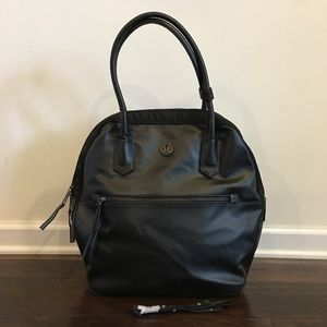"Lululemon ""Choose your happy"" Black Handbag - L"